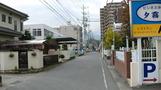 ホテル前の道路。