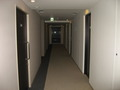 客室フロアの廊下。