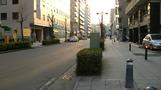 ホテル前。