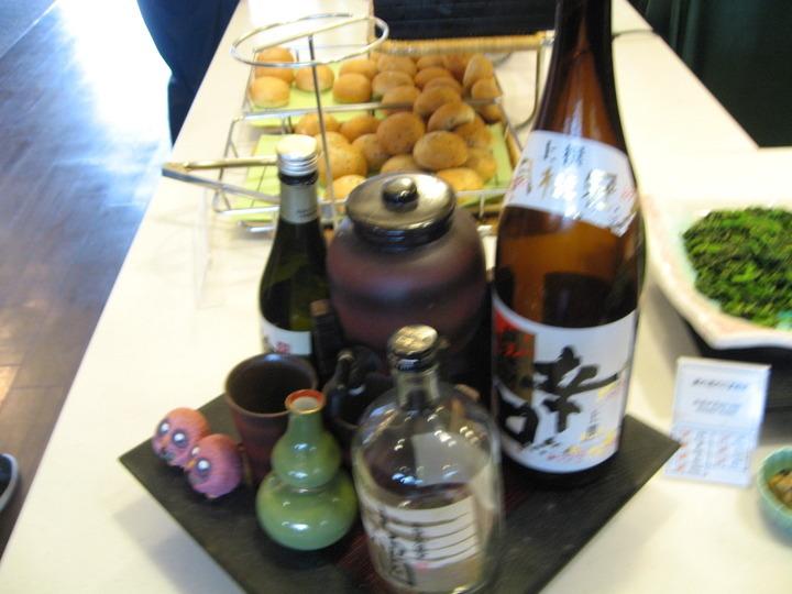 日本酒のインテリア。
