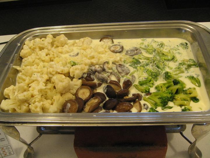 チーズソース温野菜。