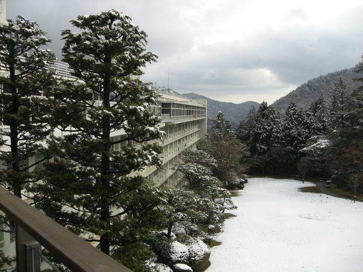テラスからの冬景色。