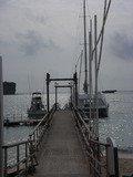 万座ビーチ桟橋