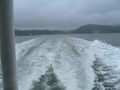 瀬戸内海を船で行く