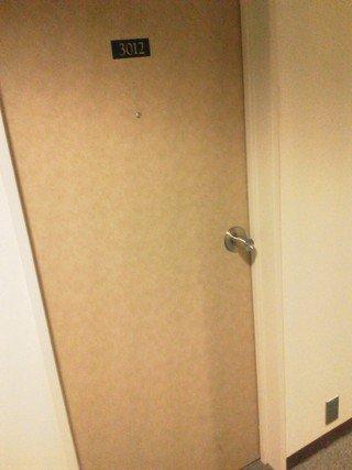 部屋のロックは鍵タイプです。