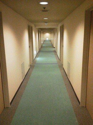 落ち着いた感じの廊下です。