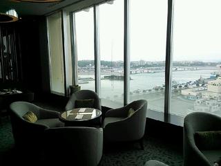 朝食レストランからの眺望も◎。