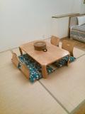 畳スペースでほっこり。