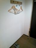 壁掛けタイプのハンガー。