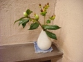 雨情の湯(露天風呂)の脱衣所のお花