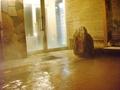 雨情の湯(露天風呂)の出入り口方面を見るとこんな感じ