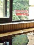 湯船に浸かりながら外を見ると