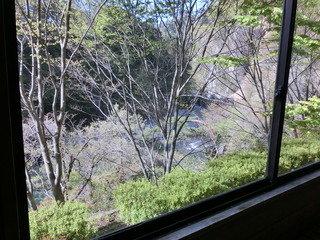 大浴場の窓から鬼怒川