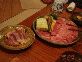 夕食です。