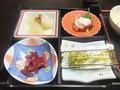 朝食の小鉢です