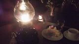 ランプの館のケーキセットです