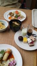 関西エアポートワシントンホテル内のレストランのバイキングの料理です。