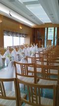 関西エアポートワシントンホテル内の結婚式のチャペルのバージンロード