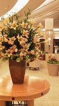 ホテルの豪華なお花