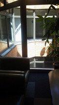 4階の客室の前の小さなロビー
