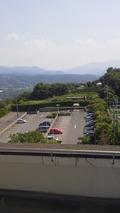 展望室からのかんぽの宿の駐車場