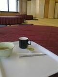 大広間でコーヒータイム