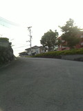 ホテル長崎の看板から下へのロータリー