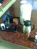 テーブルの上のお茶セット