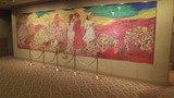 宴会場の待合スペースの絵画