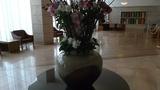大きな花も