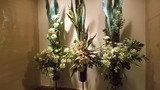 飾られた花も豪華です