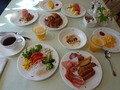 セミオーダービュッフェの朝食