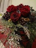ロビー周辺に置かれた薔薇