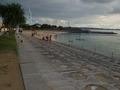 ホテル裏のビーチ