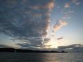 真栄田岬に沈む夕日