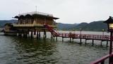 湖上の温泉