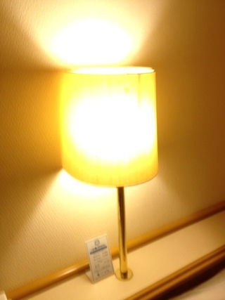 部屋内の照明