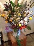 ロビーにあった造花