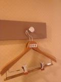 部屋内のハンガー
