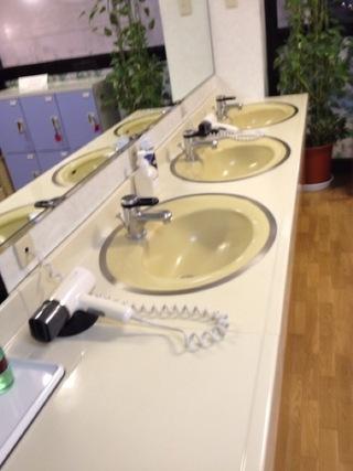 大浴場内の洗面
