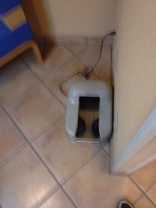 ロビーにあった靴掃除機