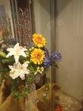 廊下にあった大きな花