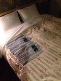 浴衣とベッド