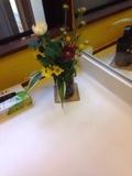 脱衣所の花