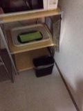 ランドリー内のゴミ箱