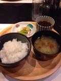 夕食御飯、味噌汁