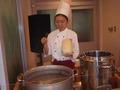 目の前で作ってくれる刀麺