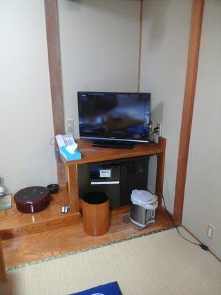 部屋にあるTVです。