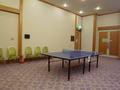 踊り場の卓球コーナー