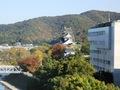 ◎9階の部屋から見える岡山城